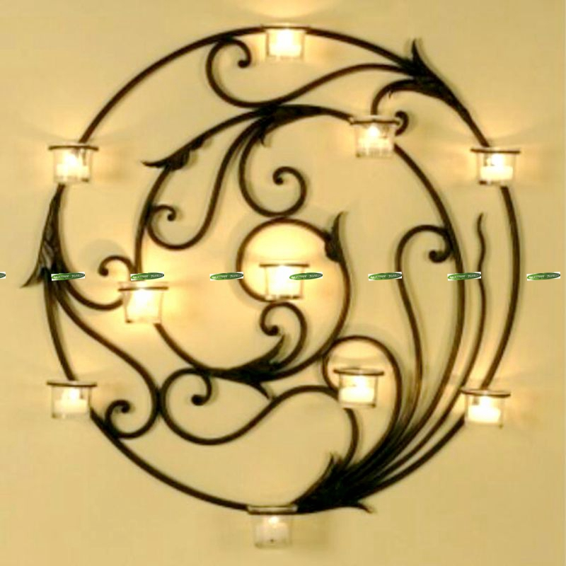 black metal candle wall sconces