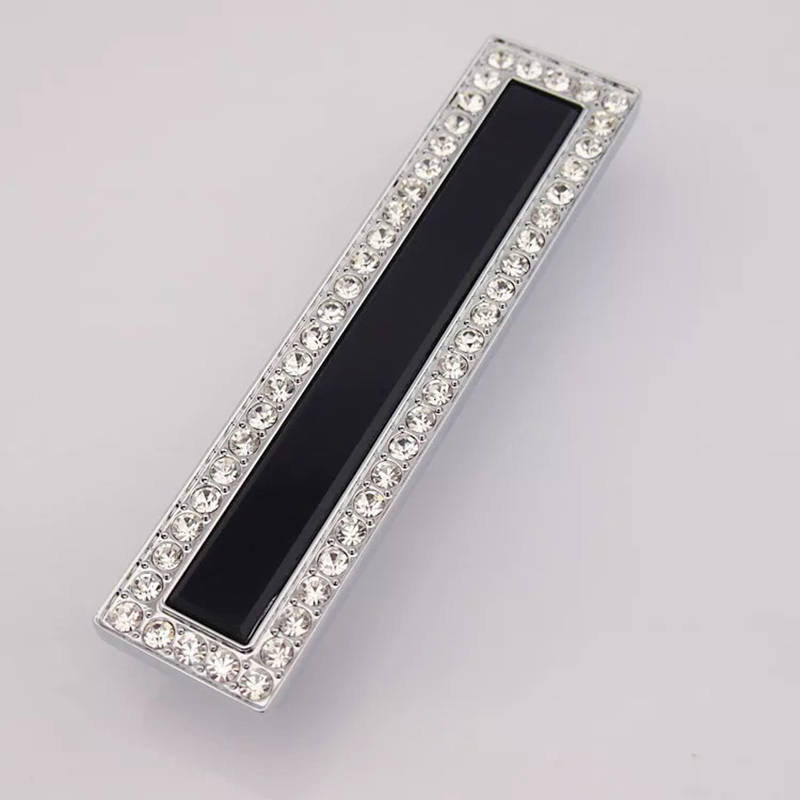 Fashion Diamond Furniture Decorative Handle K9 Crystal Drawer Cabinet Pulls  Free Shipping Silver Dresser Cupboard Pull Part 61