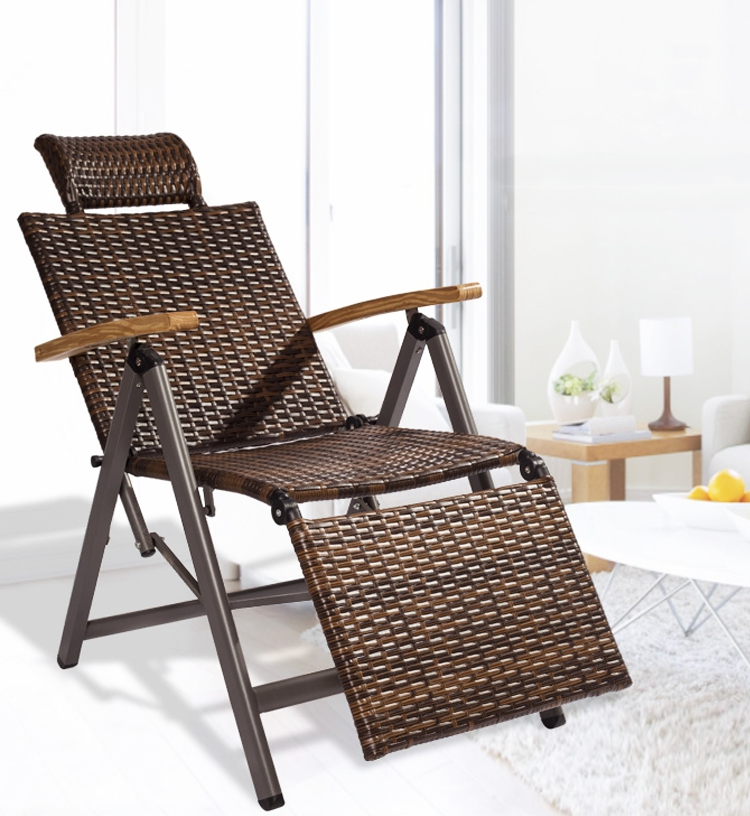 portable lounge chair cushion japanese floor outdoor indoor rattan rocking with zero folding vintage recliners for patio pool beach deck home