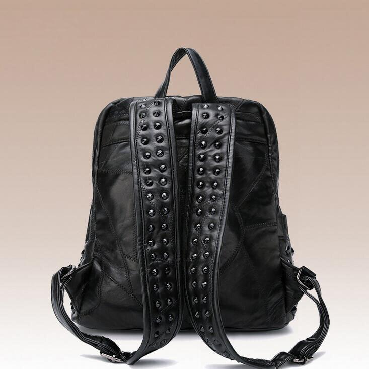 Sac newhotstacy 111416 femmes nouveau sac à dos en cuir véritable mode double sac à bandoulière - 3