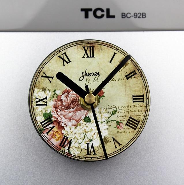 Continental Retro Pastoral Flower Kitchen Clock Fridge Magnet Clocks
