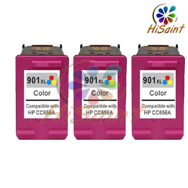 ФОТО Free shipping 3C high quality compatible ink cartridge nwe for HP901 901XL HP J4580 4660 4680 hp4500 901 large capacity hot sale