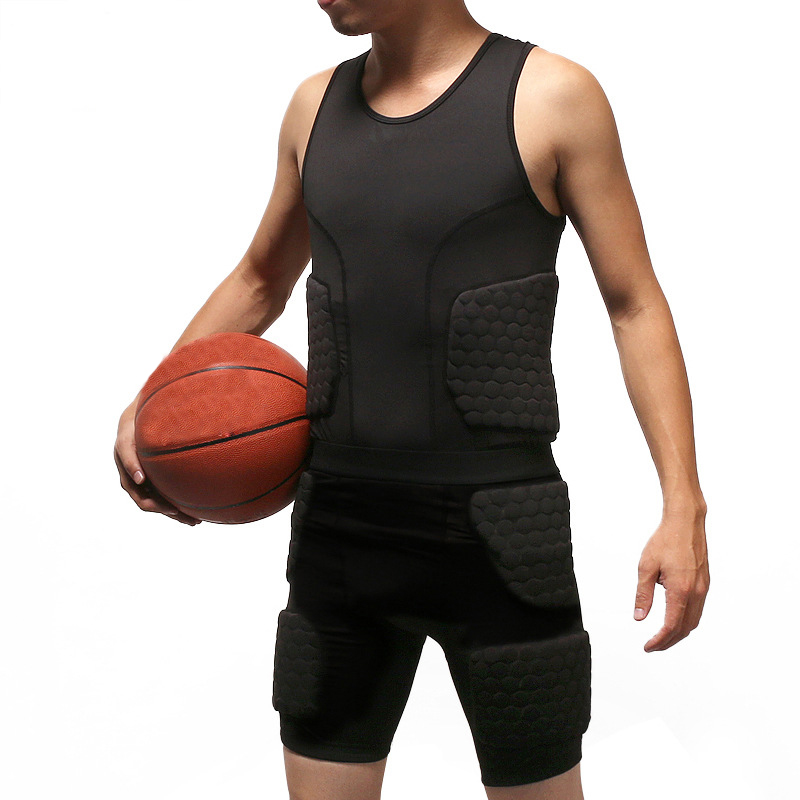 Anti-collision basketball jersey Quick Dry Training Vest Shorts College Throwback Football Jerseys Body Protection Mens Bodysuit цена