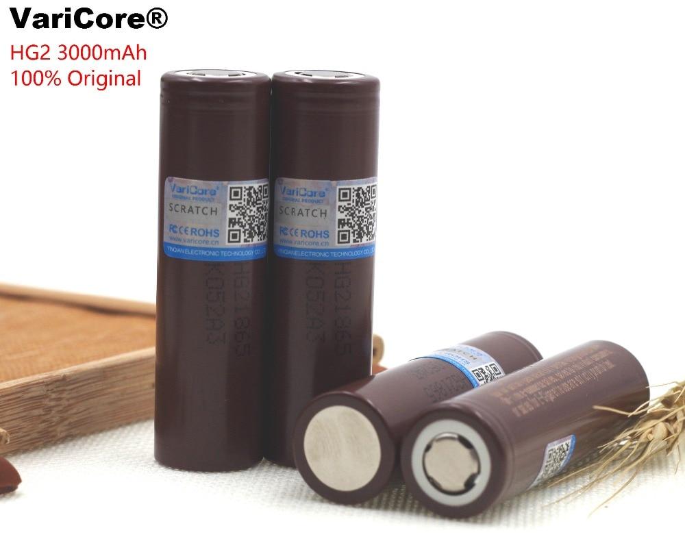 6PCS 100% New Original HG2 18650 3000mAh battery 18650HG2 3.6V discharge 20A dedicated For LG E-cigarette Power battery