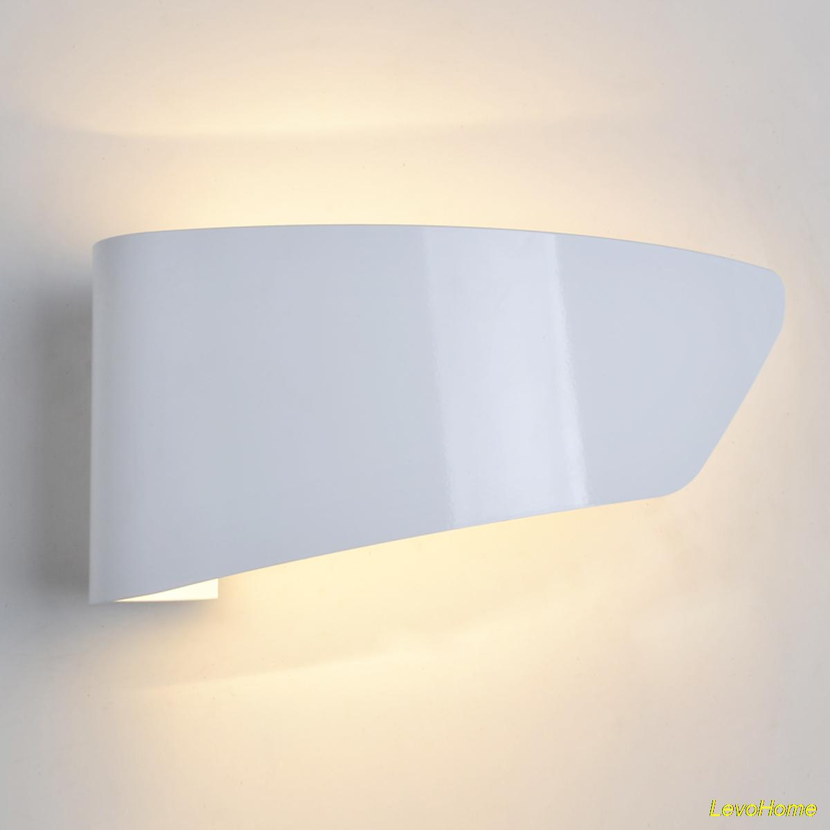 Modern wall lamp simple flag wall sconces white lamps luminarias packing details 1wall sconcesnot include bulb arubaitofo Image collections