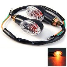 Universal Motorcycle Turn Signal Light Indicator Flasher Blinker Lamp Amber Light Energy Saving Long Lifespan with Cat Eye Style