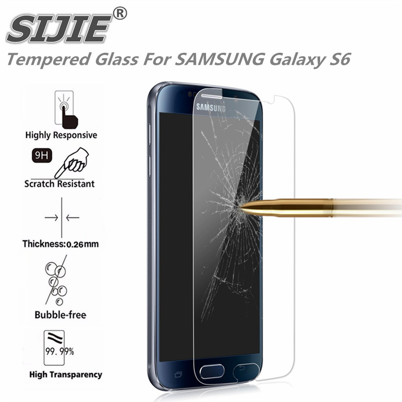Tempered Glass For SAMSUNG Galaxy S6 G9200 G920 G920F SM G920 phone Screen protective cover 5 1 inch smartphone toughened 9H on in Phone Screen Protectors from Cellphones Telecommunications