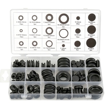 125 Piece Rubber Grommet Eyelet Ring Gasket Assortment Set Of 18 Different Sizes, With See-Through Divided Organizer Case –For
