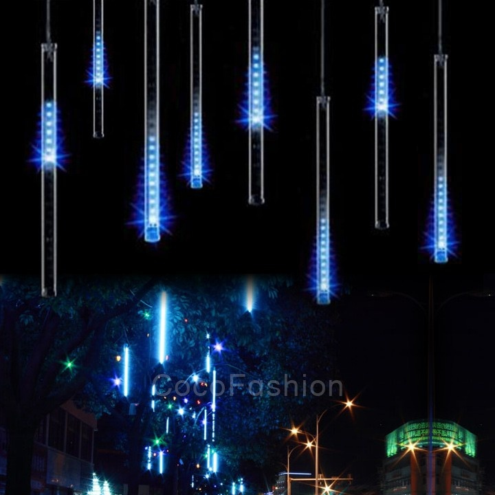 HENYNET 30 см метеоритный дождь трубы светодиодный свет на Рождество Свадебные украшения сада