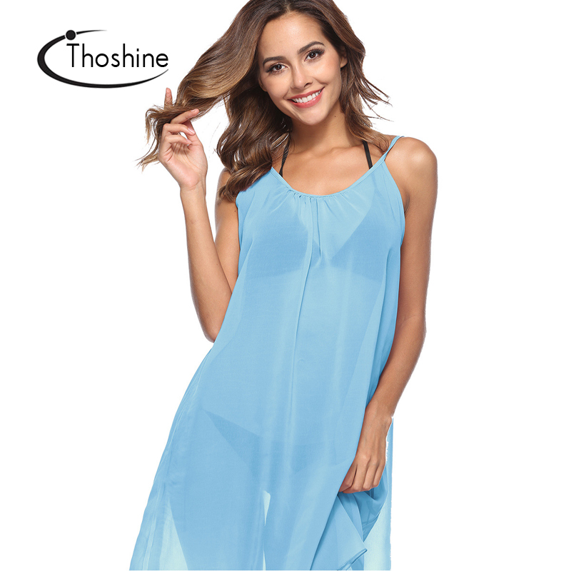 837a316540 Thoshine Brand Summer Style Women Sexy See through Dress Spaghetti Strap Female  Hollow Out Beach Vestidos Nightclub Dresses-in Dresses from Women's Clothing  ...