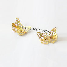New Hot Amazing Coming Gold Butterfly Hair Hair Accessories Clip Headband Hair Head Decoration Wedding Jewelry(China)