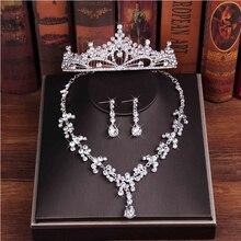 Luxury 3 Pieces Women Wedding Accessories Rhinestone Bridal