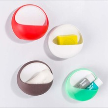 Colorful Soap Storage Holder Bathroom Suction Cup Sundry Cosmetic Soap Wall Sucker Holder