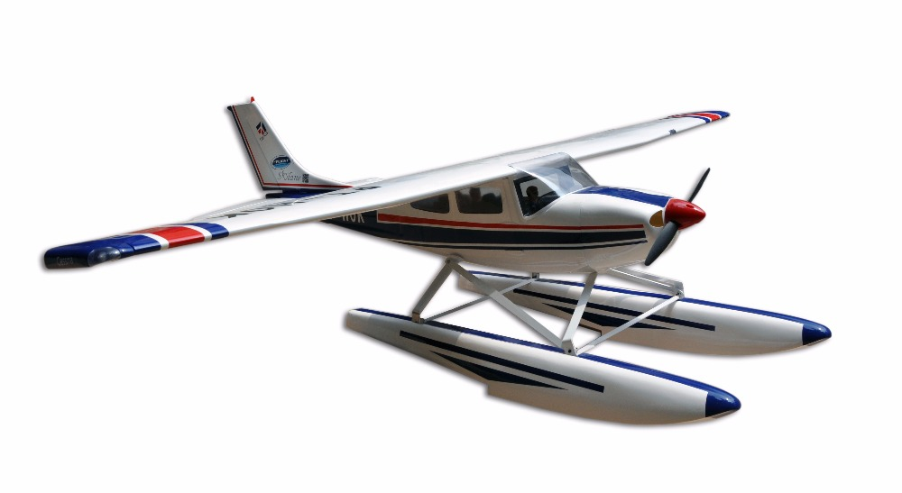 Amphibious Nitro Plane CESSNA-182 60 Glow & electric RC model 5Channels ARF Fiberglass Airplane все цены