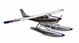 Avión anfibio Nitro CESSNA-182 60 resplandor y modelo eléctrico RC 5 canales ARF Avión de fibra de vidrio