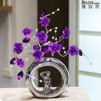 Творческий свадебные подарки высококлассные Керамические украшения акриловые хрустальный цветок практические предметы домашнего обиход