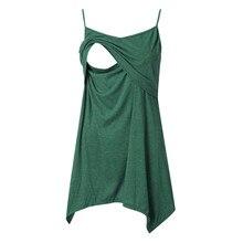 nursing top maternity clothes Women's Sleeveless Layered Nursing Tops Maternity Breastfeeding Tunic ropa premama embarazadas