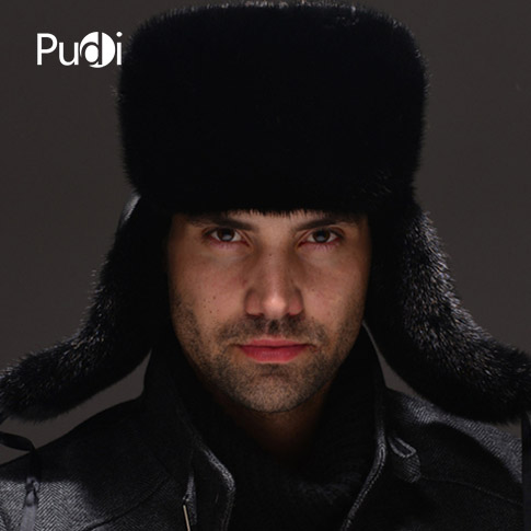 HM032 Real genuine mink hat winter Russian men's warm caps whole piece mink fur hats hm039 real genuine mink hat winter russian men s warm caps whole piece mink fur hats