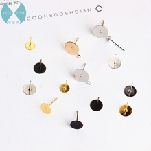 DIY handmade jewelry accessories flat flat belt hanging earrings earrings earpins flat flat support specifications flat