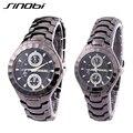 Reloj de SINOBI altos moda marca aleación de la correa Vogue relojes para hombres y mujeres negocio del movimiento del cuarzo reloj de pulsera erkek kol saati