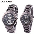 Sinobi часы пары высокие мода бренд на открытом воздухе сплав ремень моде часы для мужчин и женщин кварцевый механизм бизнес наручные часы мужские часы наручные