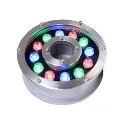 AC12V 24V fontanna lampa 6W 9W 12W 18W 24W RGB biały czerwony niebieski podświetlana fontanna LED do pracy pod wodą lampa IP68 na zewnątrz wodoodporna lampa