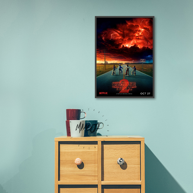 Posters Wall Art Printed Canvas Painting For Room Decoration Stranger Things  Wall Decor Picture