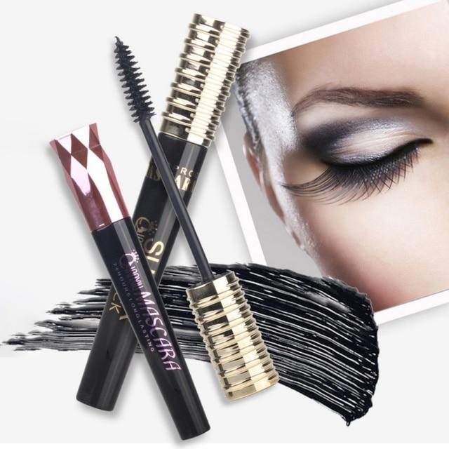 45cac8354bd 4D Silk Fiber Lash Mascara Eye Makeup Waterproof Korean Cosmetics Rimel  Eyelash Extension Black Thick Lengthening Eye Lashes