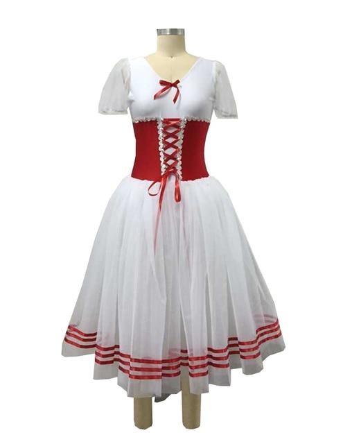 443d581c3e Mulher profissional ballet dress azul royal corset collant três-camada  branca longa saia branca três