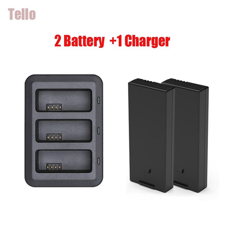 D'origine DJI Tello Station De Recharge de Batterie + 2 pièces 1100 mah Tello Vol Batterie Piles Rechargeables Pour dji ryze tello Drone