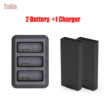 Original DJI Tello Battery Charging Hub+2 Pcs 1100mah Tello