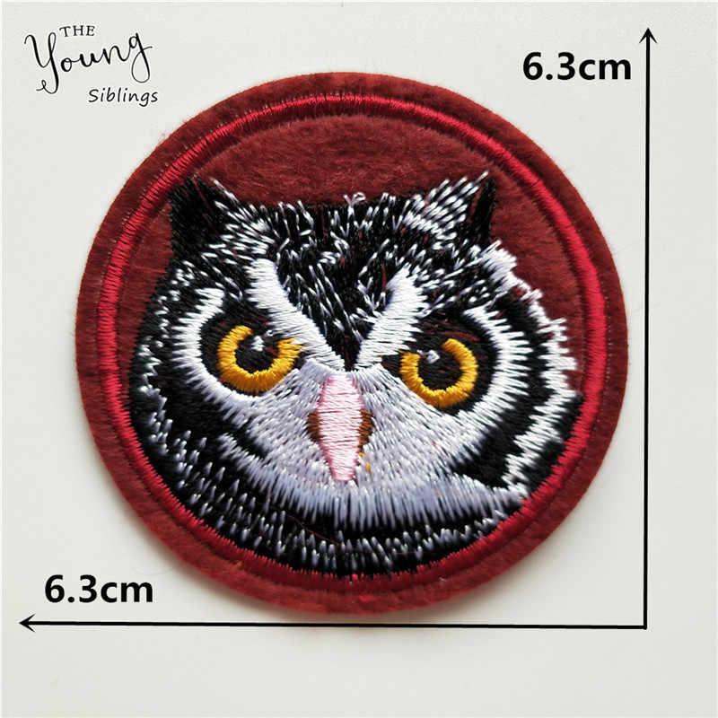 Mélanger les patchs adhésifs thermofusibles broderie dessin animé lettre hibou couture Appliques bricolage vêtements autocollants fer sur patch Badge accessoire