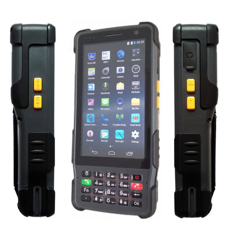 China Android Rugged Waterproof Big Phone Shockproof 8200mAH Handheld Terminal PDA Barcode Scanner Reader XDSL Power ONU Tester