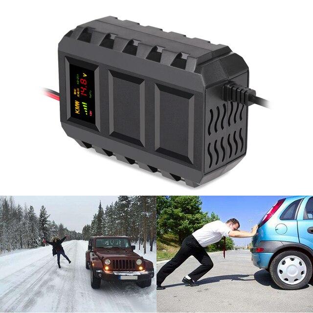 12 V 20A LED Display Mobil Charger 110-240 V Cerdas Mobil Baterai Charger Mobil Kendaraan Baterai Charger