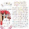 2014 NOVO 20 folha/lote ALICE'S menina Dos Desenhos Animados Do Tatuagem Do Prego acessórios unhas Para Unha Desgin & decoração embalagem individual