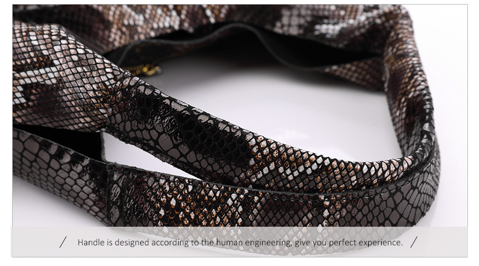 totes clássico serpentina impressões bolsa de ombro