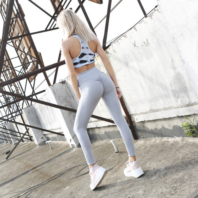 LAISIYI Black   Leggings   Women Polyester Ankle-Length Standard Fold Pants Elasticity Keep Slim Push Up Fitness Female   Legging