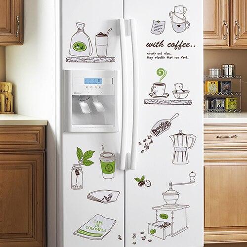 US $8.58 |Cucina decorazione della parete cafe cabinet impermeabile adesivi  smontabile wallpaper adesivi ristorante wall sticker in Cucina decorazione  ...