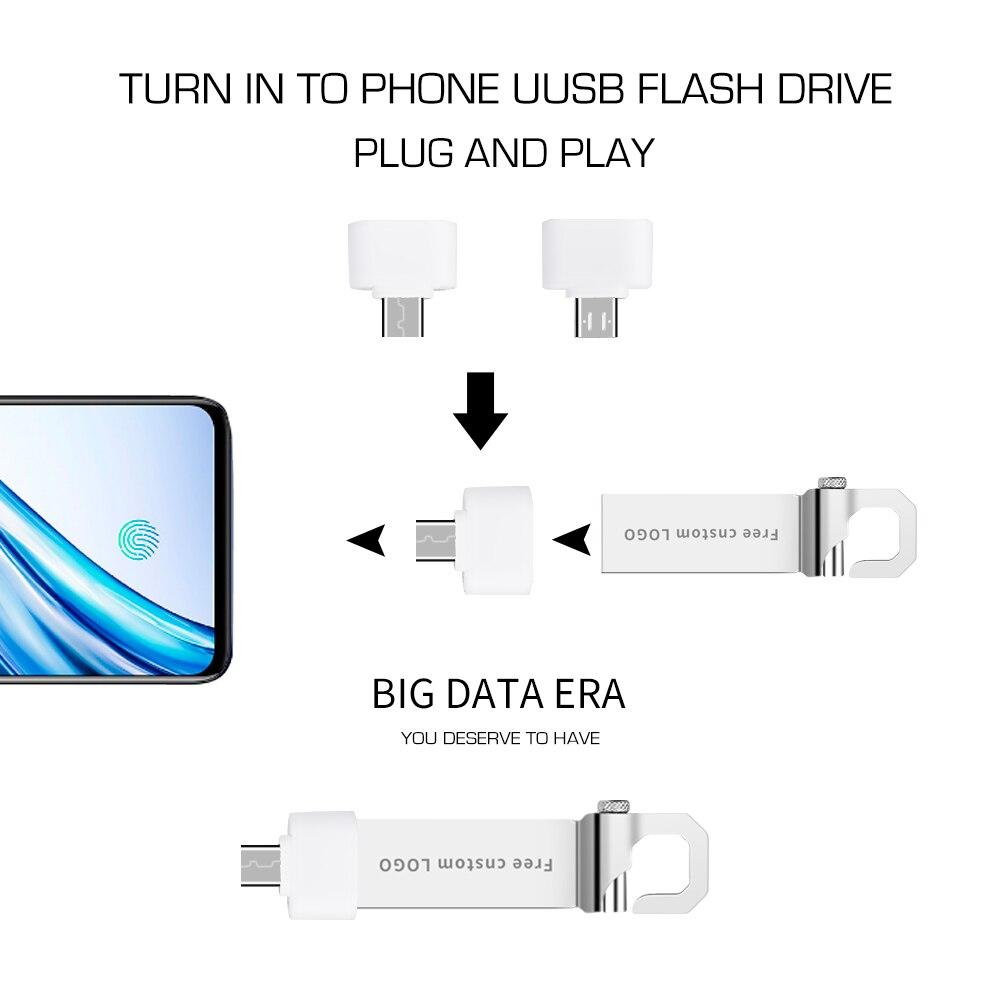 Popular Usb Flash Drive 32GB High Speed USB 3.0 Metal Pen Drive 4GB 8GB 16GB 64GB Pendrive Wholesale Flash Memory Free Shipping  (2)