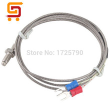 RTD PT100 High Temperature Thermocouple K type 6mm Thread Thermocouple Thermometer Sensor length 1m 2m 3m(China (Mainland))