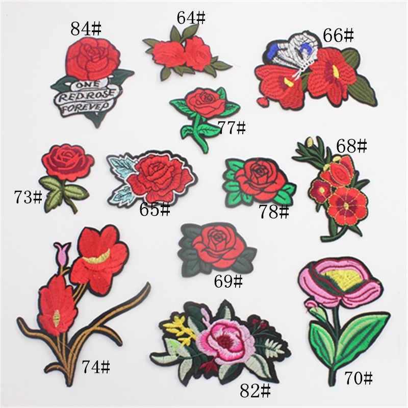 1 St Merk Bloem Patches Grote Stickers Borduurwerk 3D Red Rose Applique Motif Applique Kledingstuk Vrouwen DIY Kleding Bruiloft Patch