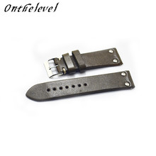 Free Shipping Handmade Leather Watchband Strap 18mm 20mm 22mm 24mm 26mm Watch Accessories Stainless Steel Men Woman