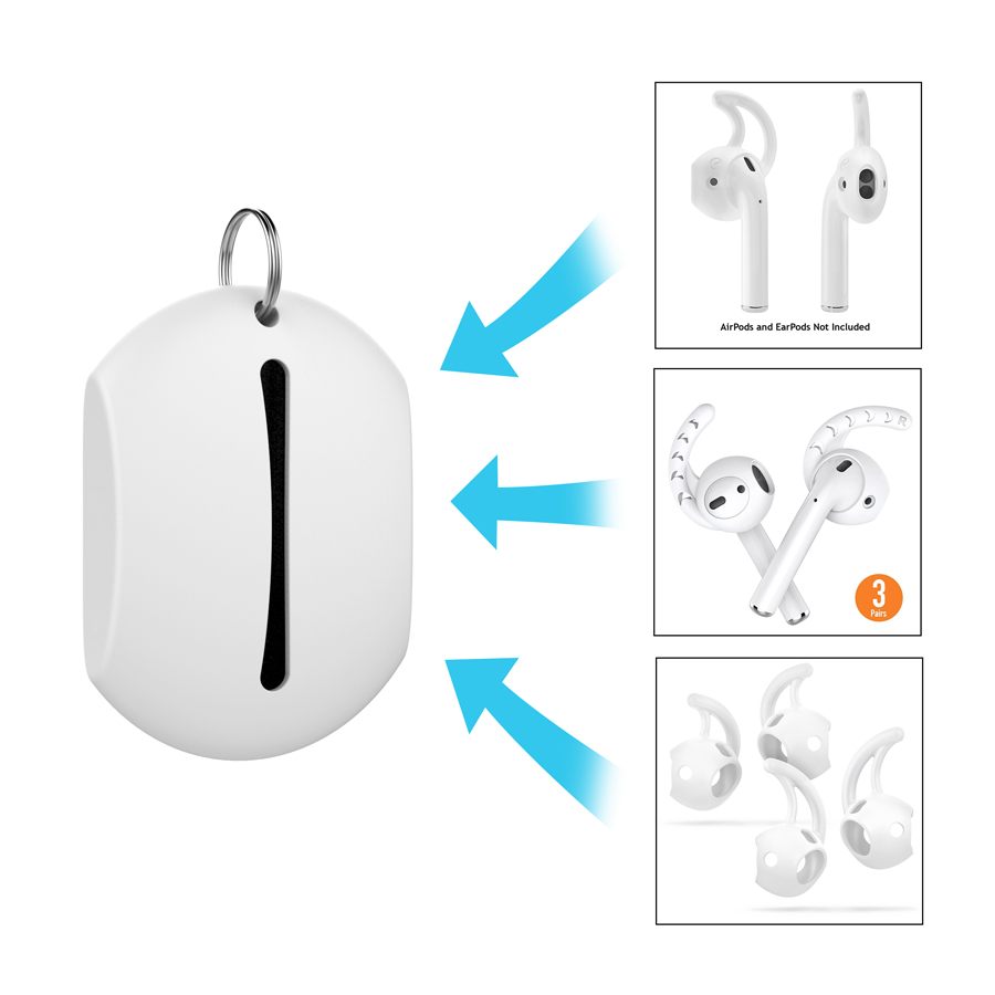 Capa de gancho para iphone earpods xs