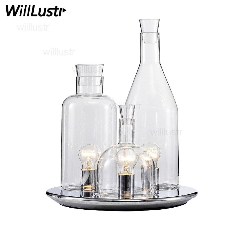ITRE Rosati Bacco 123 bottle table lamp fashion glass table lighting декоративні лампи із дерева у стилі бра