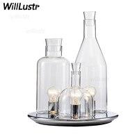 Replica ITRE Guido Rosati Bacco design 123 bottle table lamp fashion clear milk white glass desk light bedside sofa side hotel