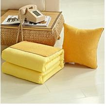 solid color large cushion pillow blanket sofa nap blanket car folded cushion household textile