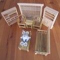 Один комплект 13 шт. кукольный домик мини старинные предметы меблировки мебель председатель бюро автоаксессуары модель творческий милый