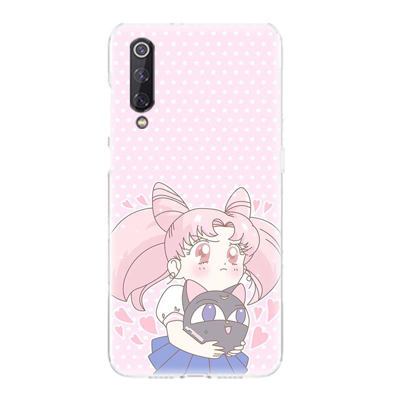Sailor Moon Girl Patterned TPU Phone Case For Xiaomi Mi 8 9 5S 5S Plus 5X 6X Mi SE Lite F1 Play Mix 3 Art Customized Cases Cover in Half wrapped Cases from Cellphones Telecommunications