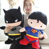 Dorimytrader50cm Funny Stuffed Soft Plush Giant Cartoon Anime Superman Batman Toy Nice Baby For Children Kids Birthday Gift