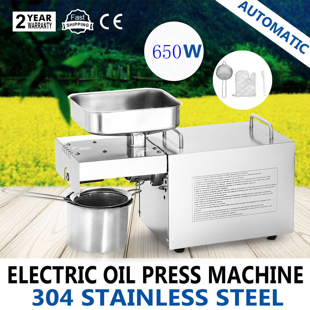 Commercial Small Oil Press Machine Peanuts Flax seeds Home Oil Press Electric Cold Press Oil Machine for Kitchen Appliances Мельница